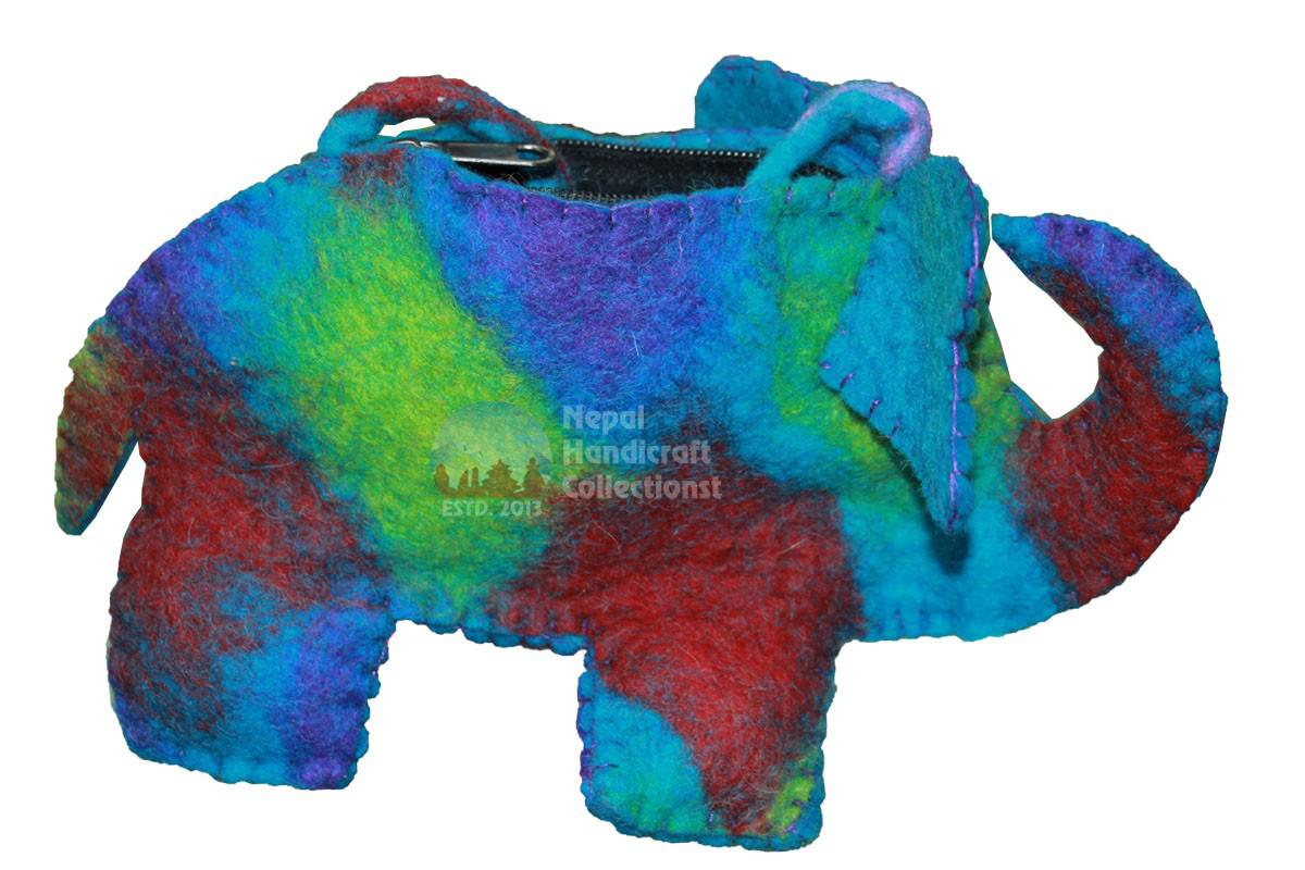 Elephant,coin purse,blue,red- mix