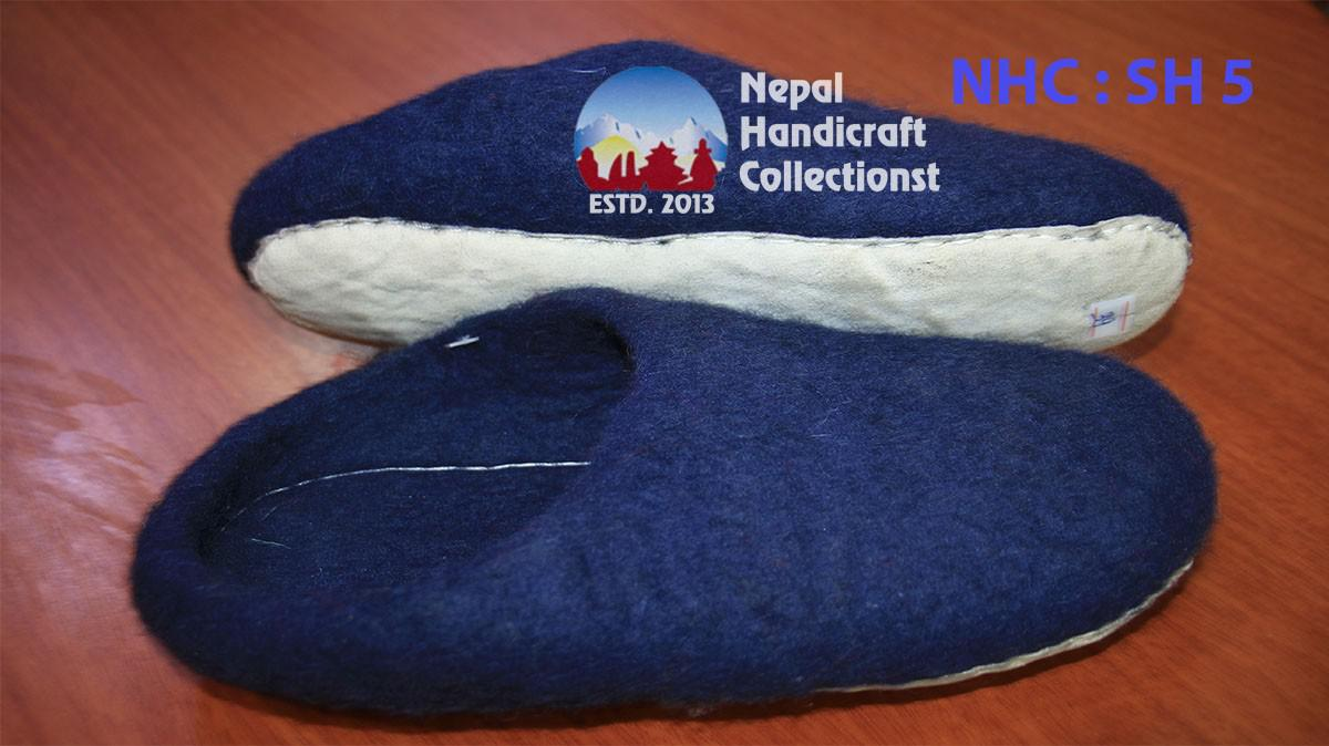Felt Slipper blue