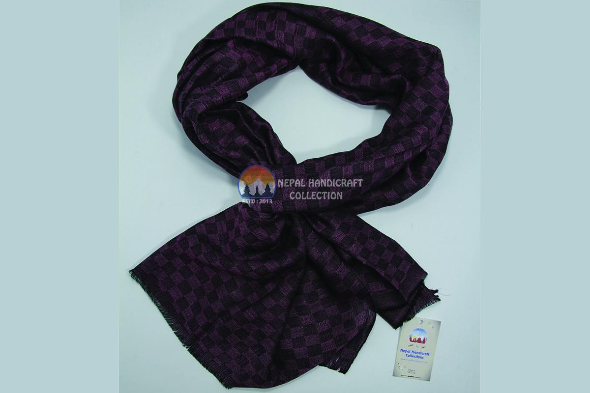 200 Count ultra thin pashmina shawl -Purple