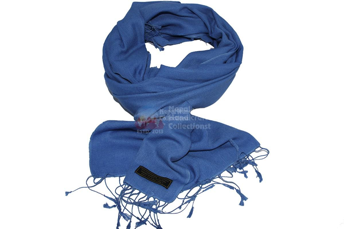 Pashmina 70-30 shawl ,Royal blue