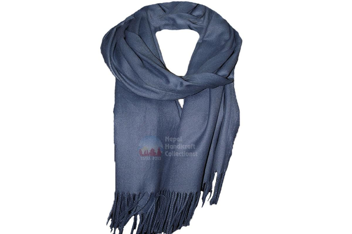 pashmina shawl- midnight blue