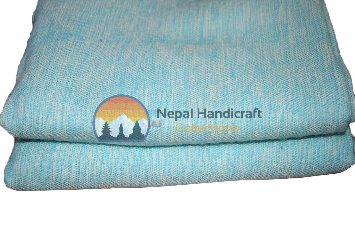 Woolen blanket ice blue