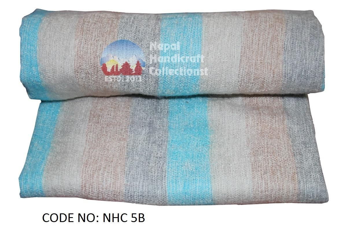 wollen blanket ice blue stripe-2